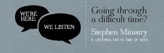 Stephen Ministry banner